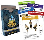 Best Cardio MMA Workouts | CAGE Cardio Bodyweight Fight Deck: Workout Cards for MMA Training and Martial Arts