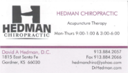 SWJOCO Referral and Networking Group | Hedman Chiropractic - Dr. Hedman