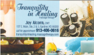 Tranquility in Healing - Joy Alcorn