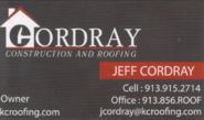 Cordray Roofing - Jeff Cordray