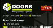 SWJOCO Referral and Networking Group | Brain Hendrickson - B & D Garage Doors