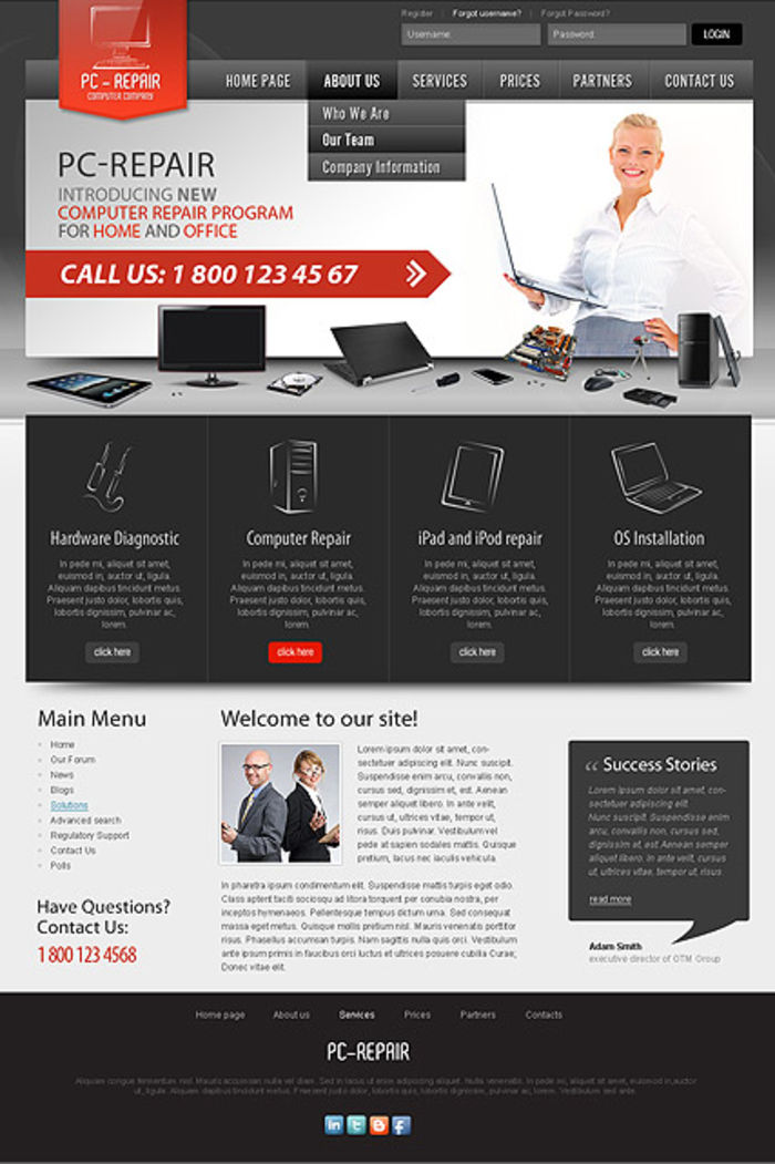 9 adorable website themes for computer repair a listly list accmission Image collections