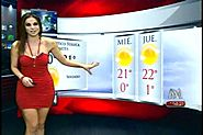 Top 15 Hot Mexican Weather Girl | Angie Gonzalez