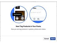 Facebook Tests Tagging Products on Pages With Catalogs, Shop Sections