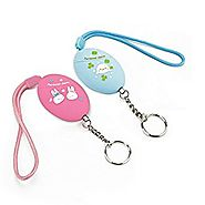 Loud (120db) Personal Anti Rape Security Alarm Alert Attack Panic Emergency Egg Keychain (Blue&Pink)