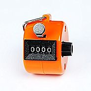 Sinddy Assorted Color Handheld Tally Counter 4 Digit Display for Lap/Sport/Coach/School/Event