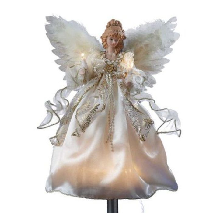 Lighted christmas angel tree toppers a listly list for Angel of the north christmas decoration
