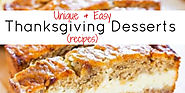 Unique and Easy Thanksgiving Desserts - Fun & Creative Desserts for Thanksgiving (recipes included) - Involvery