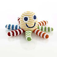 Gifts for the Little Ones | Octopus Rattle - Rainbow