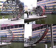 Top 10 Bridges In The world | Rolling bridge (united kingdom): the bridge that can roll itself
