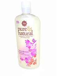 Best Natural Moisturizing Shower Gels - Top Picks for Dry Skin in 2017 | Pure & Natural Moisturizing Body Wash Cherry Blossom & Almond 16 oz