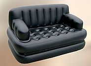 Air Sofa Cum Bed- Inflatable velvet leather Lounge