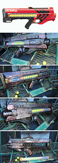 STEAMPUNK nerf RIVAL Zeus MXV-1200 Blaster - One of a Kind!!!