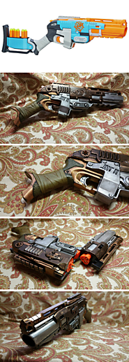 The Submariner - a Steampunk NERF Sledgefire