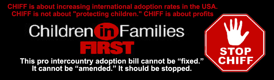 Stop The Children In Families First Act of 2013 - CHIFF