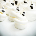 Diabetic Friendly Halloween Treats | Ghost Kiss Cookies