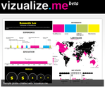 Infographics Tools | vizualize.me: Visualize your resume in one click.