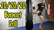 Muay Thai Heavy Bag Conditioning Workouts | Intense Drill and Workout Circuit