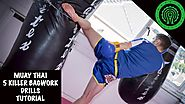 Muay Thai Heavy Bag Conditioning Workouts | 5 Killer Bag Work Drills Tutorial