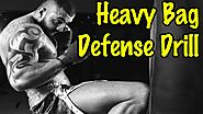 Muay Thai Heavy Bag Conditioning Workouts | Heavy Bag Defense Drill for Muay Thai