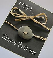 Making your own beach stone buttons
