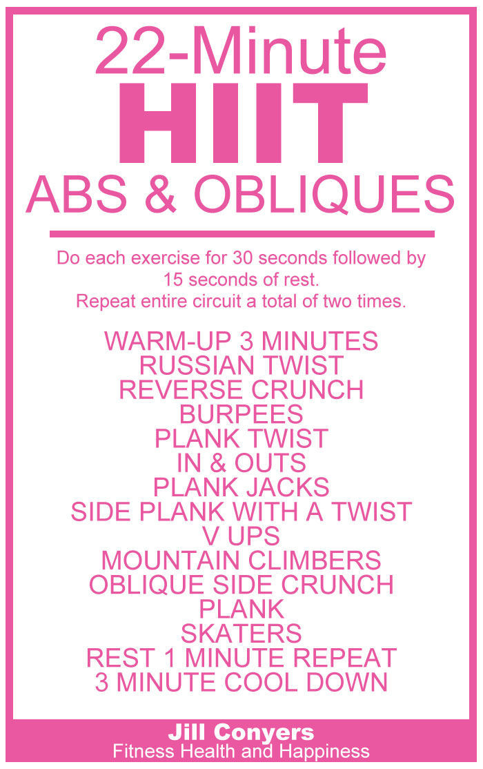 22 Minute Hiit For Abs Oblique