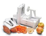 Spiral Vegetable Slicer Reviews | Paderno World Cuisine A4982799 Tri-Blade Plastic Spiral Vegetable Slicer