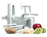 Spiral Vegetable Slicer Reviews | New and Essential Tri-Blade Spiral Vegetable Slicer
