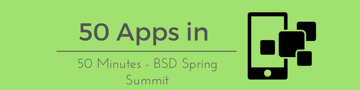 Headline for 50 Apps In 50 Minutes - Spring Summit