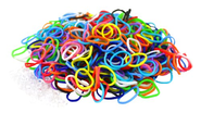 "Colorful Silicone LOOM BANDS - 600 Bands & 25 ""S"" Clips!"