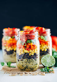 Southwestern Quinoa Mason Jar Salads - Making Thyme for Health