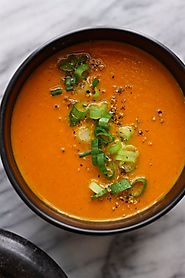 Moroccan Carrot Summer Soup