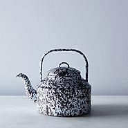 Grey Splatter Enamel Kettle