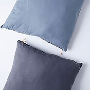 Color-Blocked Linen Floor Pillow