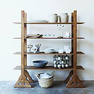 Reclaimed Fir Wood Etagere