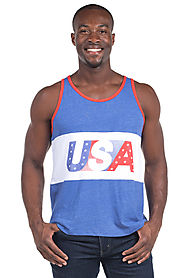 Men's USA Tank Top $35 @ Tipsy Elves