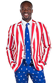 Men's American Flag Suit $89 @ Tipsy Elves
