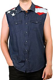 Cody James Men's Union American Flag Denim Shirt $29.99 @ Country Outfitter