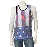 Men's Distortion Flag Tank Top $25 @ Kohl's