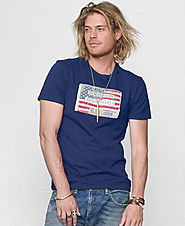 Denim & Supply Ralph Lauren Men's Core American Flag Graphic T-Shirt $39.50 @ Macy's