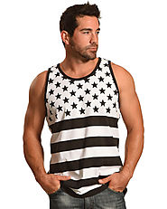 Cody James Men's Black and White American Flag Tank $22 @ Country Outfitter