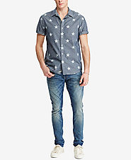 Denim & Supply Ralph Lauren Men's Star-Print Chambray Shirt $79.50 @ Macy's