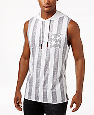 American Rag Men's Stars & Stripes Hooded Flag Tank $30 @ Macy's