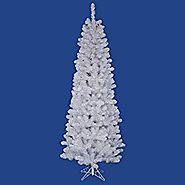 Vickerman White Salem Pencil Pine Tree with 217 Tips, 4.5-Feet by 24-Inch