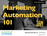 Content Jam 2013 Presentations | Marti Konstant: Marketing Automation 101