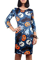 Jack Lantern Print Halloween Dress @ DressLily