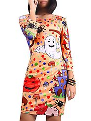 Halloween Printed Skinny Dress @ DressLily