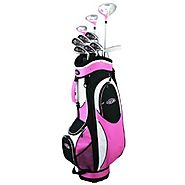 Best Gift Ideas For 14 Year Old Girls | Golf Girl FWS2 LADY LEFTY Pink Hybrid Club Set & Cart Bag