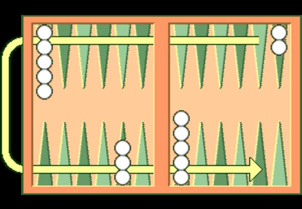 Opstilling Backgammon