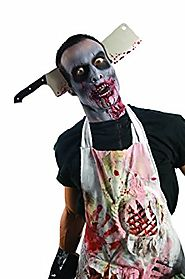 Rubie's Costume Zombie Shop Cleaver Through Head Halloween Costume